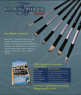 Black Silver by Dynasty Artist Brushes